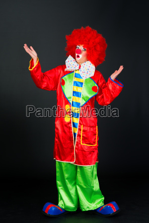 astonished clown