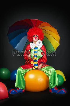 waiting clown on ball seat