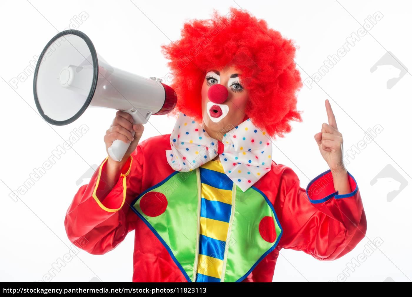 clown, con, megafono - 11823113