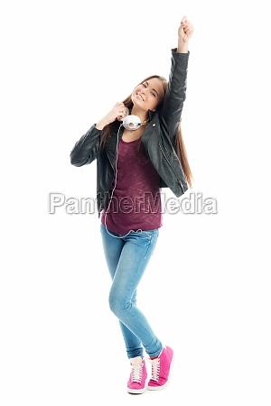 auricolari cuffie danza giovani divertimento contentezza