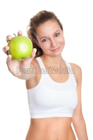 donna cibo salute frutta dieta calorie