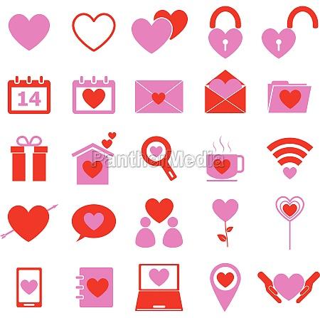 illustrazione passione icona romanza vettore amare