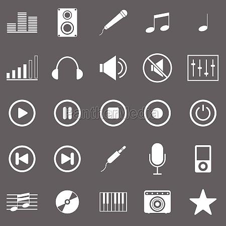 oggetti musica suono illustrazione audio icona