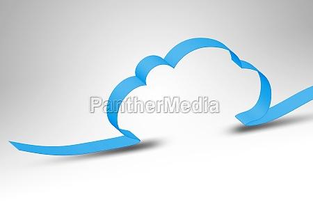 blu nuvola elaborazione calcolare fondale di