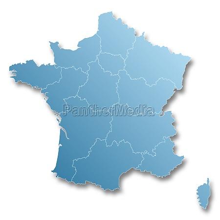 mappa delle nuove regioni della francia
