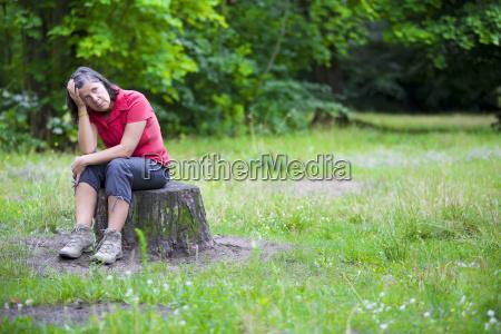 donna nel parco