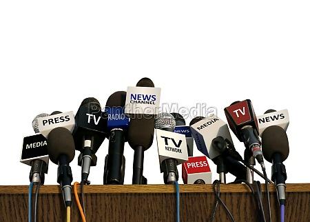 conferenza stampa e media