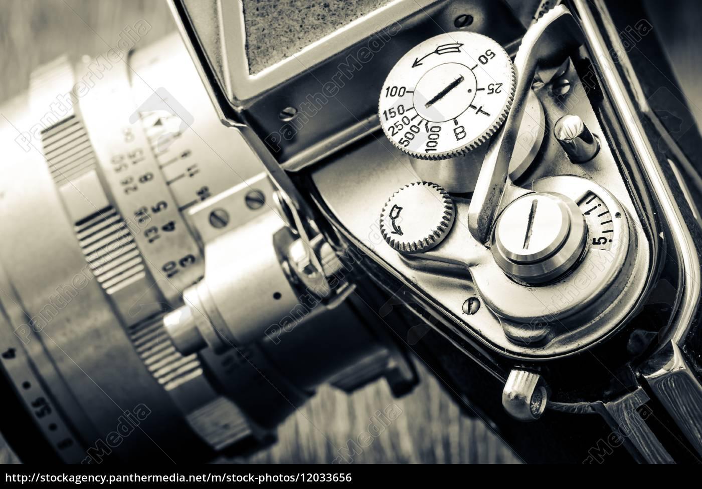 particolare, di, vecchie, quadranti, fotocamera, classici - 12033656
