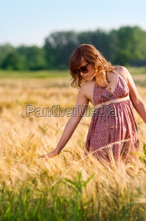 young woman in a meadow