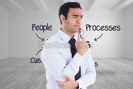 immagine composita di pensiero imprenditore che