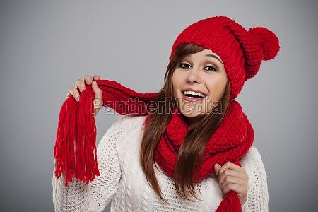 bella, giovane, donna, che, indossa, cappello - 12110232