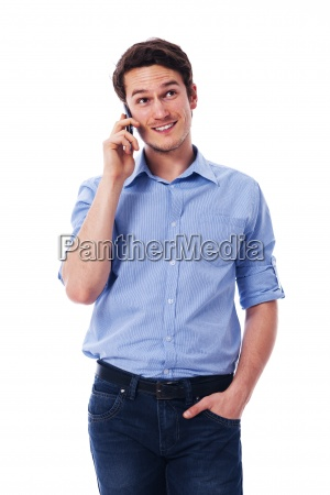 handsome male talking on the mobile