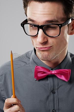nerd man student
