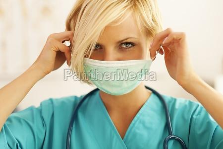 close up of female surgeon wearing