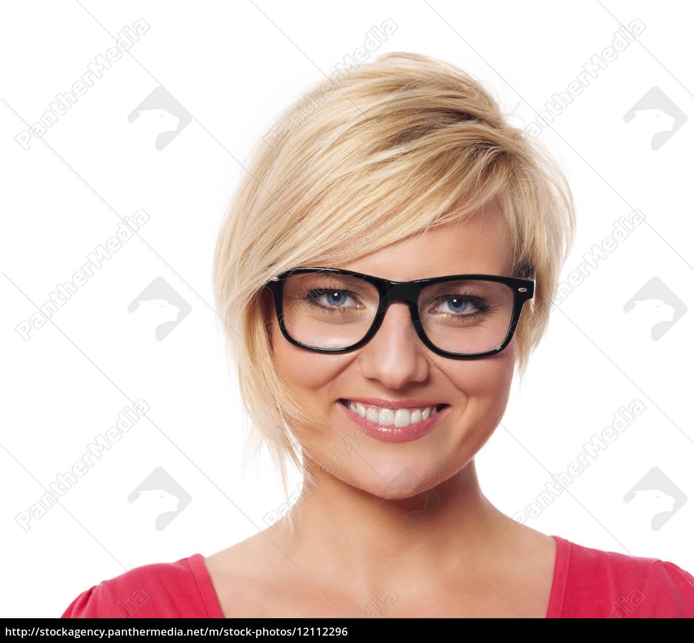 ritratto, di, bella, donna, bionda, con - 12112296