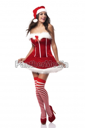 portrait of sexy mrs claus