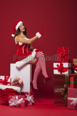 sexy santa with a lot of