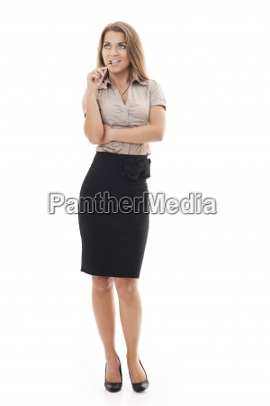 attractive businesswoman with glasses