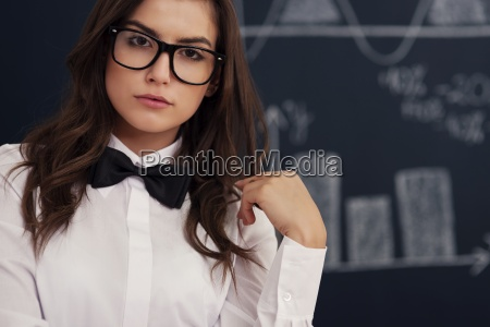 portrait of woman with glasses and