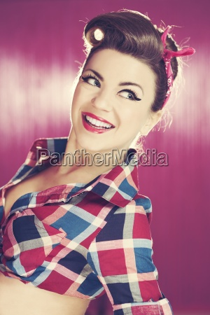 retro beautiful woman