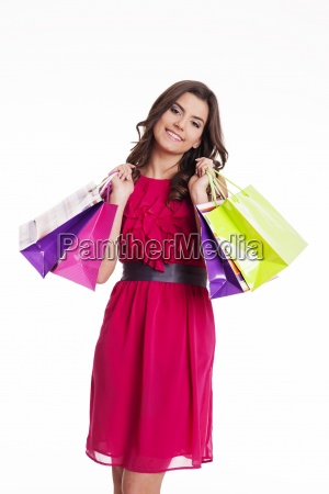 smiling shopping woman