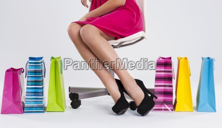 woman sitting on a chair next