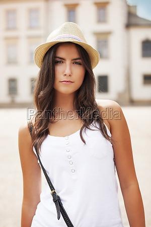 portrait of beautiful summer girl