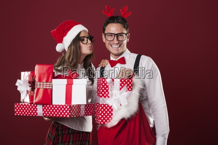loving couple with a lot of