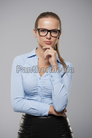 portrait of beautiful blonde businesswoman