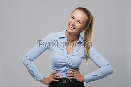 portrait of happy and smiling businesswoman