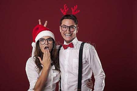 coppia, nerd, divertirsi, nel, periodo, di - 12117138