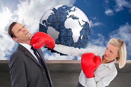 immagine composita della donna di affari