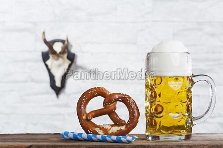 bayerische messa e un pretzel