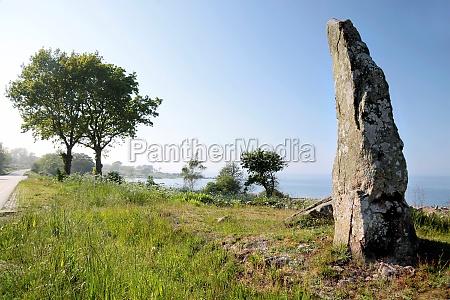 big monolith on the coast of