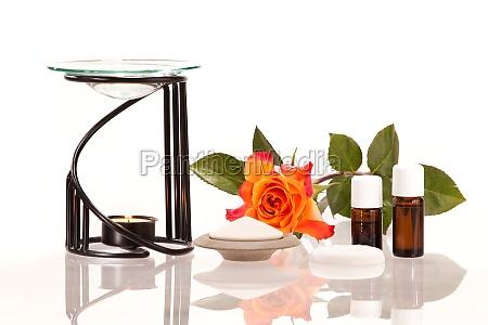 fiore rosa sapore etereo applicazione olio