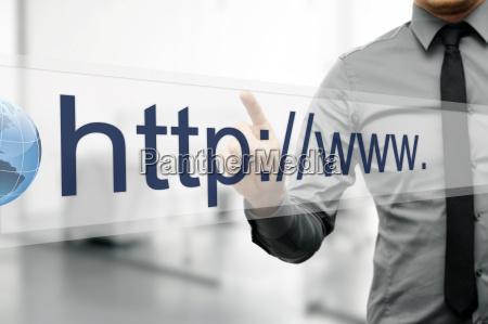 indirizzo internet nel browser web sullo