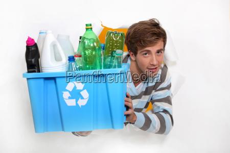 bottiglia contenitore raccogliere container conserva consapevolezza