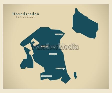 mappa moderna hovedstadens dk