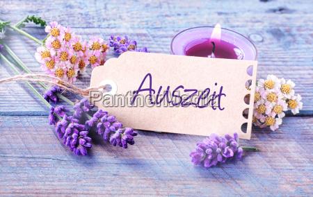 auszeit relaxation rustico sfondo floreale