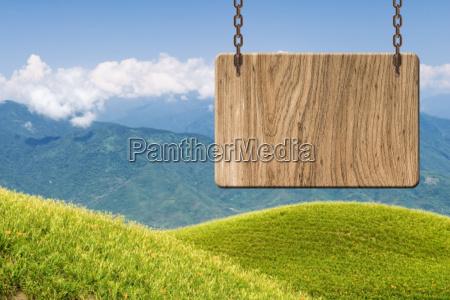 segno in legno vuoto
