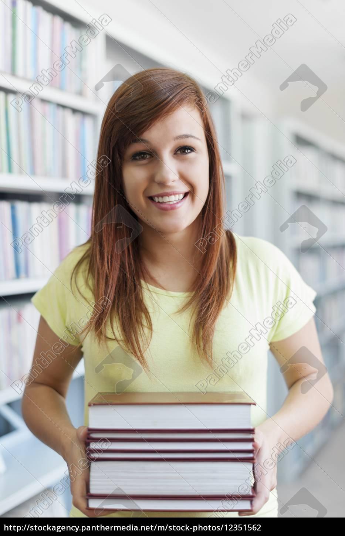 bella, studentessa, in, possesso, di, un - 12351562