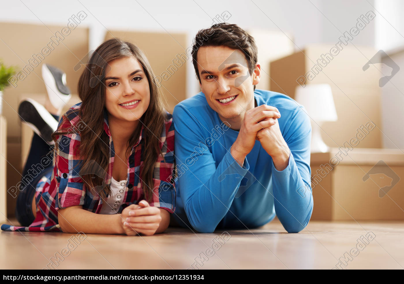 portrait, of, young, couple, in, their - 12351934