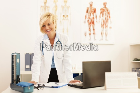 portrait of young female doctor in