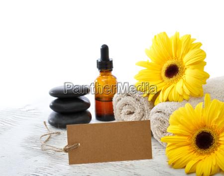 elementi spa relax con la scheda