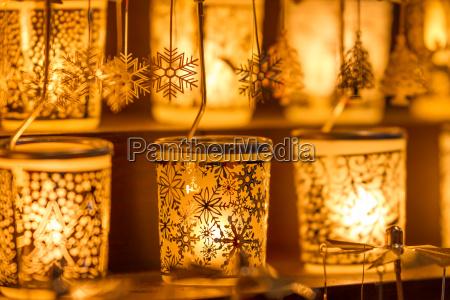 inverno luci candela natale fiocco di
