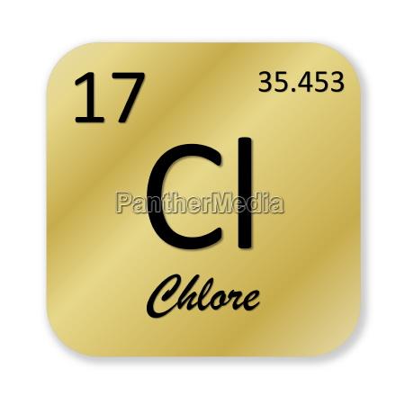 scienza atomo elemento chimica cloro periodico