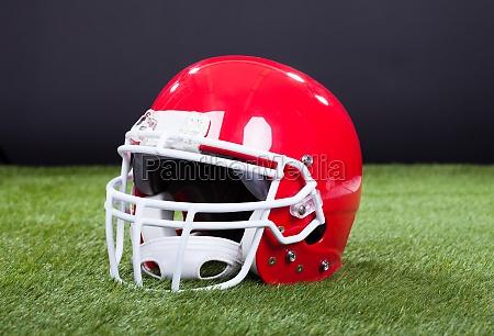 rosso del casco di sport