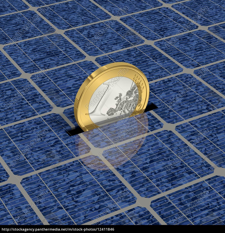 risparmiare, denaro, attraverso, l'energia, solare, 1 - 12411846