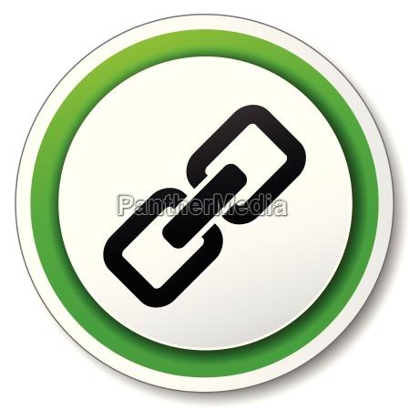 catena incatenare pulsante firmare icona vettore