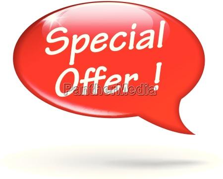 vendita offerta offrire icona vettore discorso
